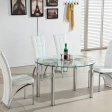 extending dining table in clear glass
