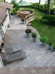 ideas for building a floating deck