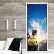 Cloud Car Kite 3d Effect Diy Door Sticker Home Decoration Landscape Removable Mural Art Bedroom Living Room Waterproof Vinyl Decal Decal House Decal Stickers From Fst1688 28 79 Dhgate Com