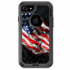 Skin Decal For Otterbox Defender Iphone 7 Case American Flag Waving 648620495082 Ebay