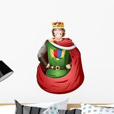 Young King With Crown Wall Decal Mural By Wallmonkeys Vinyl Peel And Stick Graphic For Girls 24 In H X 16 In W Walmart Com Walmart Com