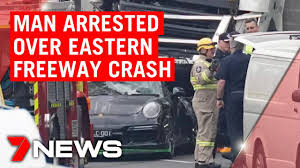Eastern Freeway accident: Man arrested ...