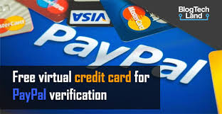 free virtual credit card for paypal