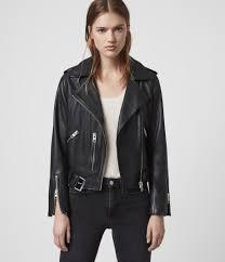 womens balfern leather biker jacket