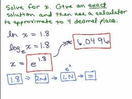 solve equations with log x and ln x