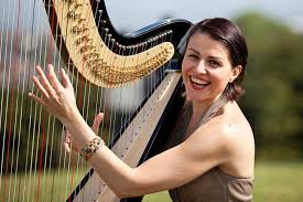 beautiful harp harpist london alive