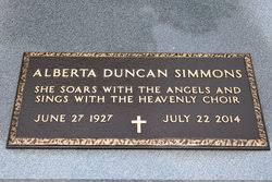 Alberta Duncan Simmons (1927-2014) - Find A Grave Memorial