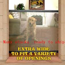 Dog Gate Ingenious Mesh Dog Fence For Indoor And Outdoor Safe Pet Dog Gate Safety Enclosure Pet Supplies Dropshipping Houses Kennels Pens Aliexpress