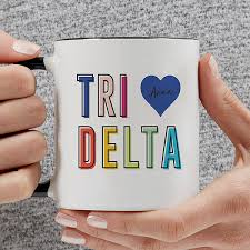 delta delta delta personalized coffee