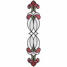 Nh2419 Red Hanover Stained Glass Window Decals By Inhome