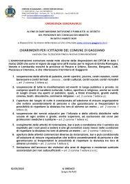 Emergenza Coronavirus - Nuovo DPCM del 1/3/2020: chiarimenti ...