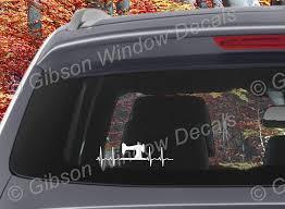 Amazon Com Ekg Sewing Machine Decal Car Truck Quilting Sewing Vinyl Window Decal Sticker Handmade
