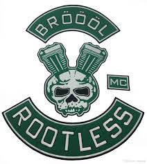 2020 New Arrival Broool Rootless Mc Embroidered Iron On Sew On Full Back Size Patch Biker Rider Patch For Jacket Vest Badge From Jonnaean 15 08 Dhgate Com