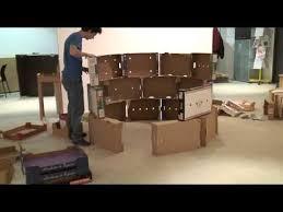 la maison en carton installation