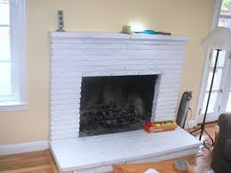 painted brick fireplace hearth ideas
