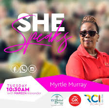 Tuesday on She Speaks Mrs Myrtle Murray,... - The Official Page Of Radio  Caribbean International 101.1, 99.1 | Facebook