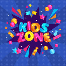 Kids Zone Fun Play Area Banner Sign Stock Vector Colourbox