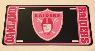 Oakland Raiders Nfl Football Shield Silver Black Vinyl Decal Car License Plate