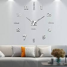 vangold frameless diy wall clock 2