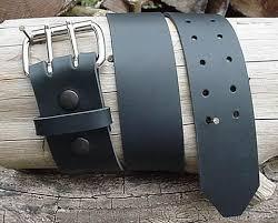 mens heavy duty black leather belt 2