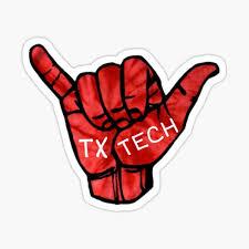 Texas Tech U Hand Sticker Sticker By L17m04 Redbubble