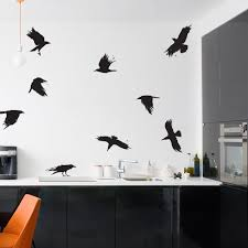 Crow Wall Stickers Flying Bird Wall Decals Wallums