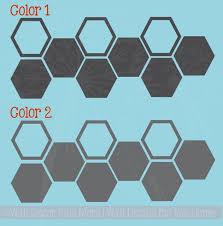 Honeycomb Hexagon Wall Sticker Shapes 2 Color Vinyl Decals Decor Art
