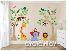 Jungle Safari Wall Decals Baby Wall Decals Nursery Wall Etsy