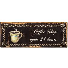 coffee shop open hours metal sign hobby lobby