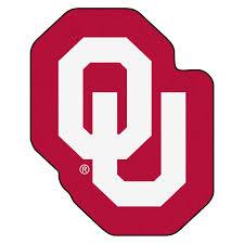 Ncaa University Of Oklahoma Sooners Mascot Novelty Logo Shaped Area Rug Christmas Central