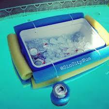 pool noodle crafts floating cooler