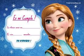 Frozen Invitaciones De Cumpleanos Anna Princesas Disney