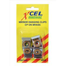 xcel mirror hanging clip set bunnings