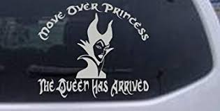 Amazon Com Rad Dezigns 6in X 6 9in Silver Move Over Princesses The Queen Has Arrived Funny Car Window Wall Laptop Decal Sticker Automotive