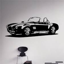 Classic Car Wall Decal Racing Car Vinyl Sticker Racing Car Home Decor Ideas Wall Art Interior Removable Design X025 Car Wall Decal Vinyl Stickerswall Art Aliexpress