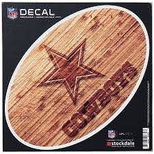 Dallas Cowboys 6 X 6 Wood Oval Repositionable Decal