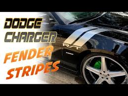 Dodge Charger Rt Fender Vinyl Stripes Decals Youtube