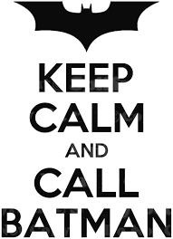 Keep Calm And Call Batman Quote Vinyl Wall Decal Decor Sticker Lettering Art