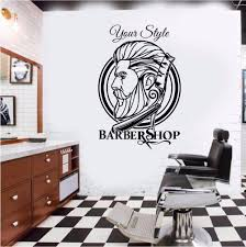 Barber Shop Hipster Wall Sticker Barber Shop Decoration Hair Dresser Wall Decal Removable Wall Decor Poster Wallpaper Decal Walls Decal Your Wall From Ghk418418 25 37 Dhgate Com