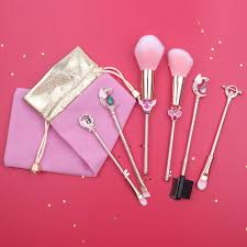 crystal makeup brush set