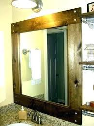 bathroom mirror wood mirrors wooden