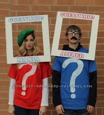 cool couple costume guess who we