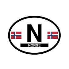 Norge Norway Vinyl Car Decal Scandinavian North