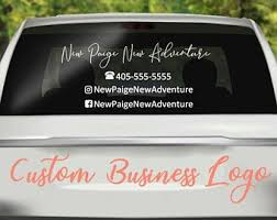 Business Car Decal Etsy