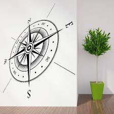 New Arrival Compass Wall Decal North South East West Tips Vinyl Wall Art Sticker Decals Home Decoration Living Room Waterproof Decoration Living Room Home Decor Living Roomwall Decals Aliexpress
