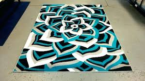 teal and orange area rugs turquoise
