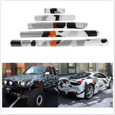 Black White Camo Vinyl Wrap Car Motorcycle Decal Mirror Diy Styling Army Camo Camouflage Sticker Film Sheet Wish