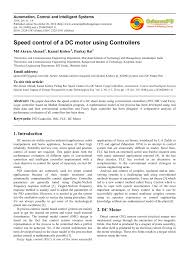 pdf sd control of a dc motor using