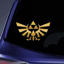 Amazon Com Bargain Max Decals Triforce Logo Wings 4 Gold Sticker Decal Notebook Car Laptop 4 Gold Automotive