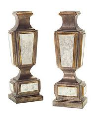 antiqued mirror candlesticks